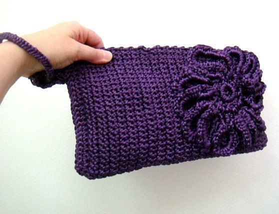 PDF CROCHET Pattern Purple Clutch Bag Purse by FaiLovesFashion, $5.50