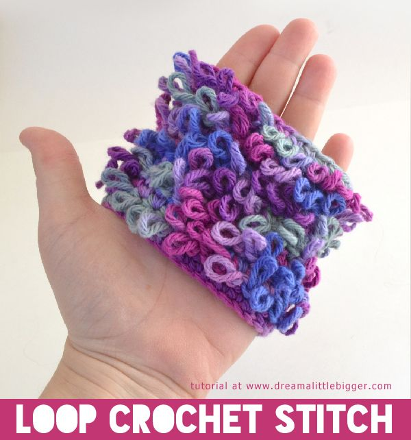loop crochet stitch makes a loopy fabric that is too cute strands an ...