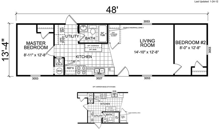 Champion Manufactured And Mobile Homes Small House Floor Plans Pi