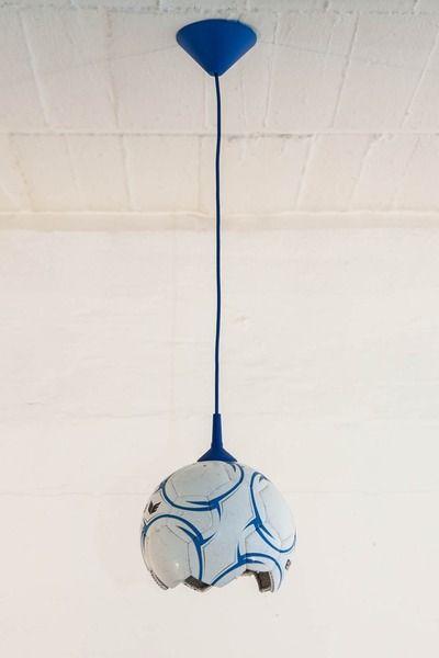 Fußball - Lampe Upcycling von topf und deckel auf DaWanda.com