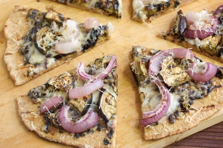 Grilled Purple Pizza by Naturally Ella   Epic Eggplant   Pinterest