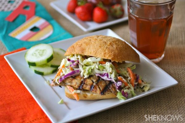 ... fishin': Father's Day grilled jerk fish sandwiches with creamy slaw