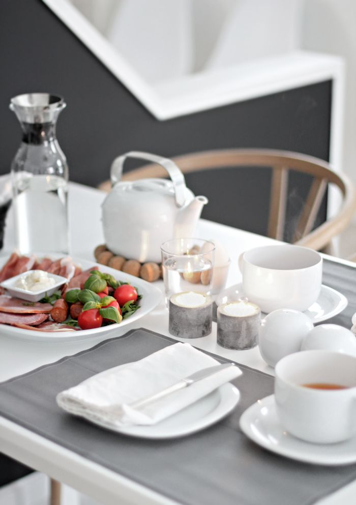 breakfast table table setting home pinterest