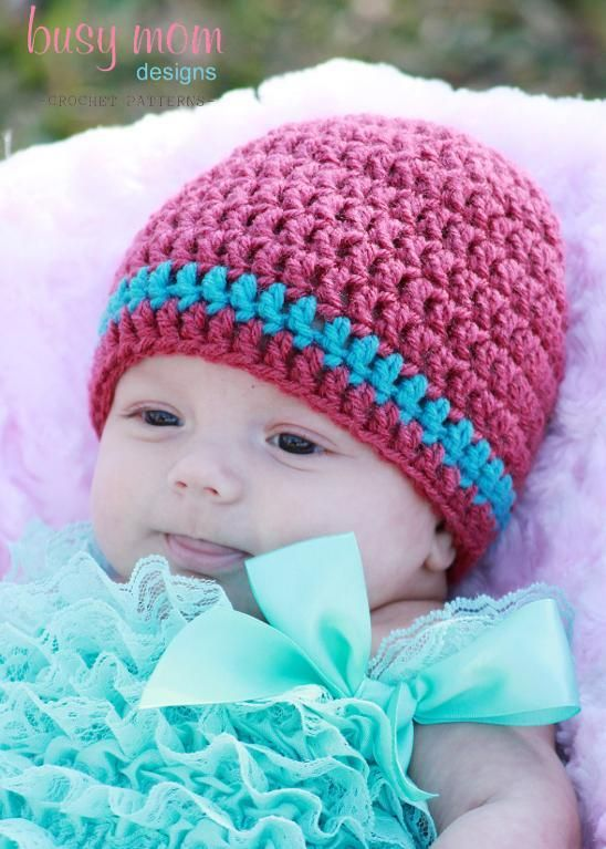 Basic Crochet Beanie - ALL SIZES - Free Crochet Hats ...