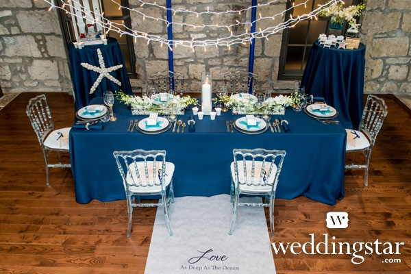 Nautical Wedding from our Blue Color Story Lookbook! {nautical, anchor, anchors, sea, under the sea, wedding theme, sea shell, beach}