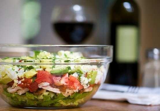 layered cobb salad | Soup & Salads | Pinterest