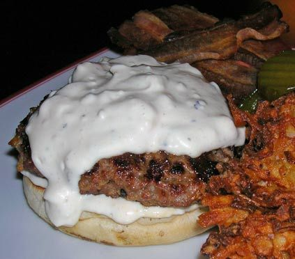 Bacon and blue cheese burgers | Sandwich Islands | Pinterest