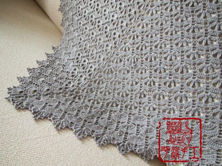Crochet Pattern For Small Shawl : Crochet: small fan shawl