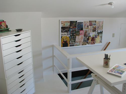 Aneboda Kleiderschrank Von Ikea ~ Stacked IKEA Alex drawers  craft rooms  Pinterest