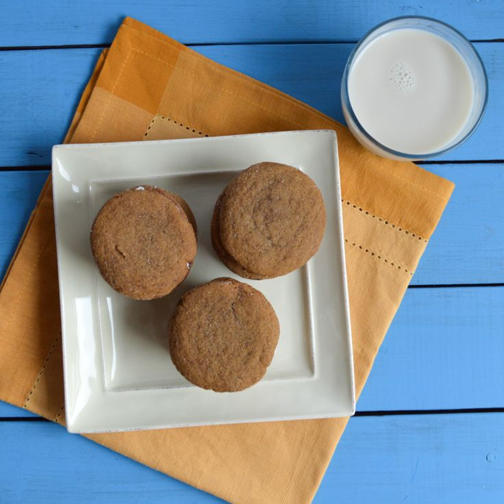 Ginger Molasses Sandwich Cookies with Lemon Cream Filling