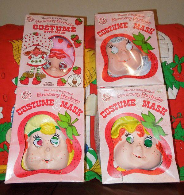 Vintage Strawberry Shortcake Apricot Lemon Apple Costume Lot
