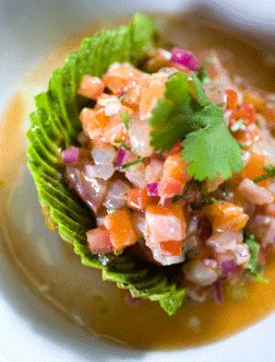 Red Snapper Ceviche With Jalapeno And Red Onion Recipe — Dishmaps