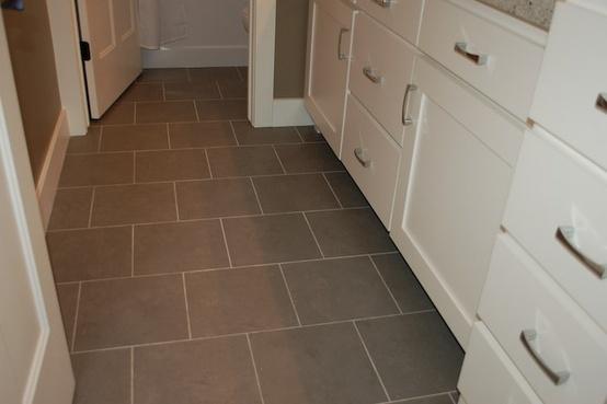 Grey Floor Tile Kitchen Pinterest