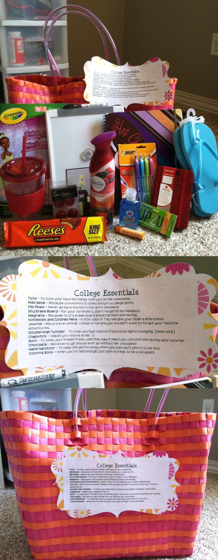 College Essentials...High School Grad Gift