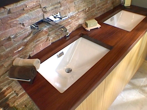 Wooden Bathroom Countertops Ideas For The Home Pinterest