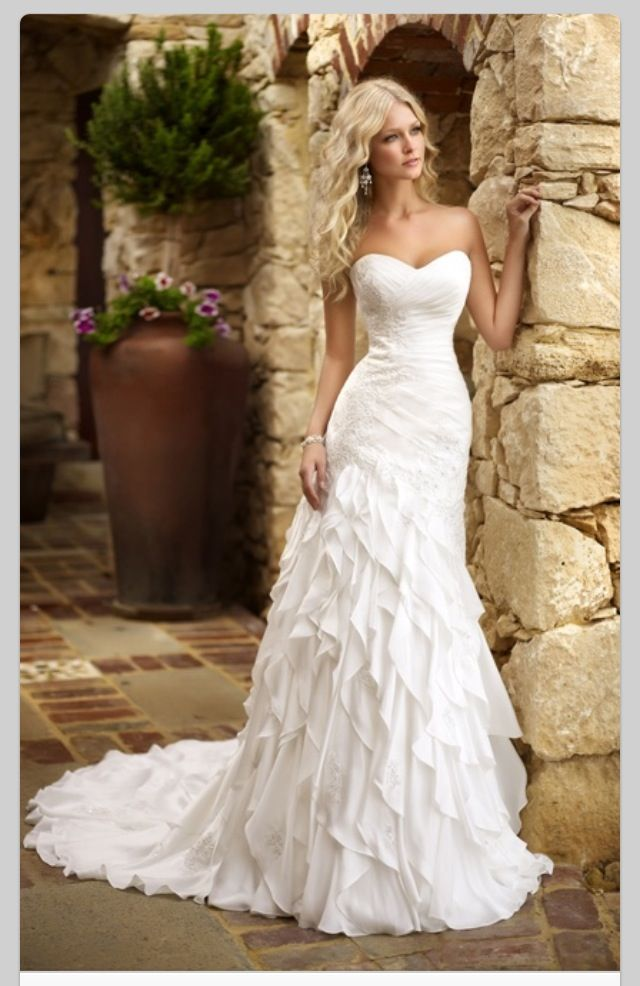Wedding dress from beautiful bride