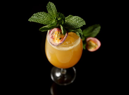 Passionfruit + Mint Cocktail Recipe — Dishmaps