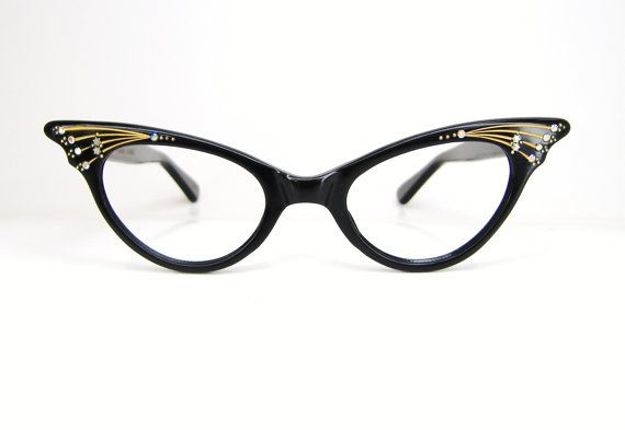 Vintage 50s French Cat Eye Glasses Sunglasses Eyewear ...