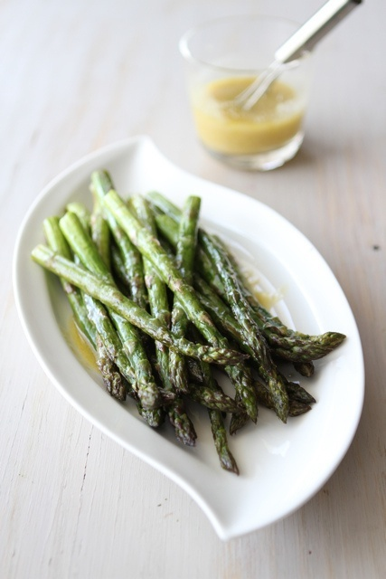 Roasted Asparagus Recipe with Miso Lime Dressing from @Cookin Canuck ...