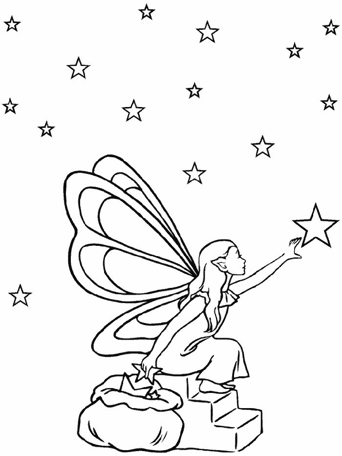 fairy coloring pages pinterest - photo#5