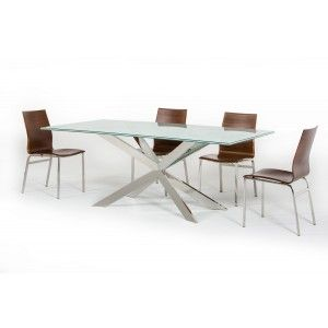 Cracked Glass Rectangular Dining Table Modern Dining Dining Room
