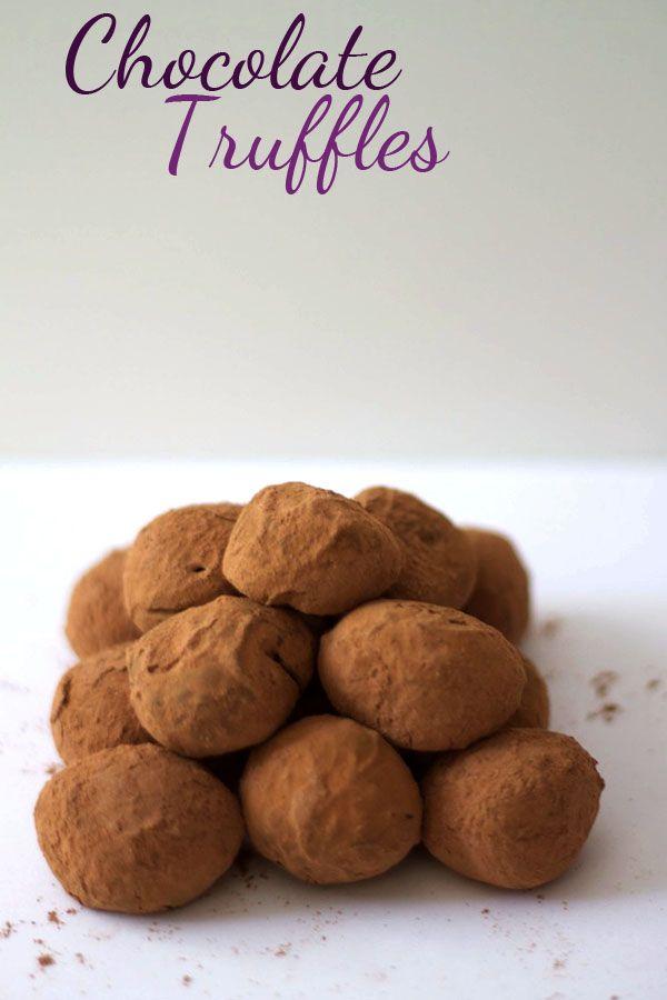 Dark Chocolate Truffles (homemade!)
