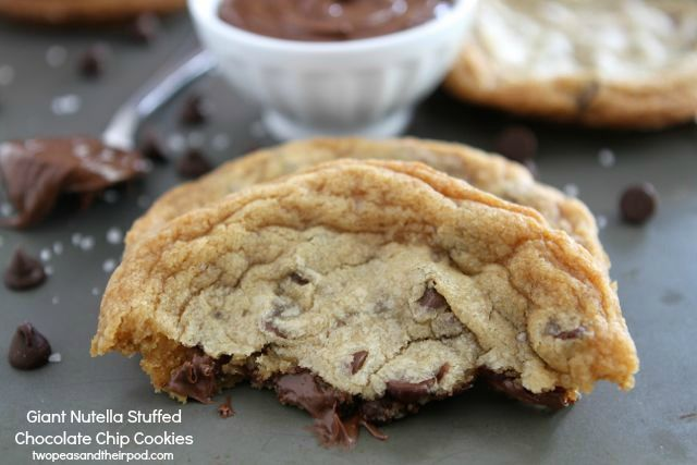 Giant Nutella Stuffed Chocolate Chip Cookies from www ...