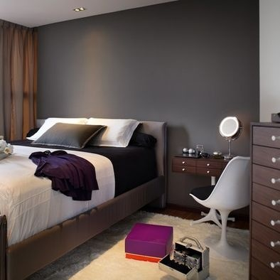 Love The Dark Gray Accent Wall Decorating With Gray