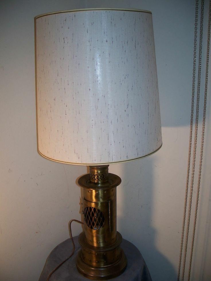 vintage 3 way brass table lamp w flickering flame night light. Black Bedroom Furniture Sets. Home Design Ideas