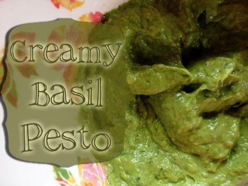 Creamy Basil pesto (vegan)   YUM   Pinterest