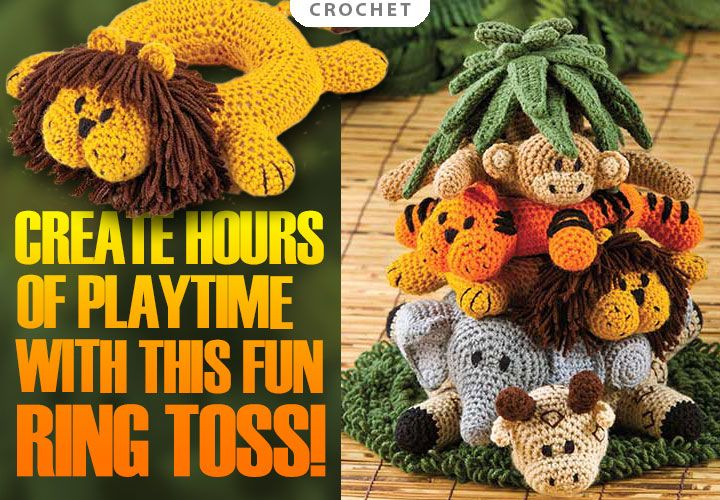 Crochet Patterns Jungle Animals : Into the Jungle Crochet Pattern from AnniesCatalog.com ...
