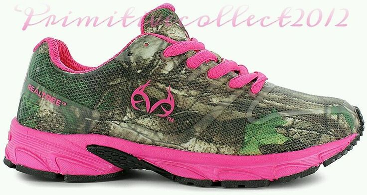 nib realtree cobra jr pink camo shoes cing