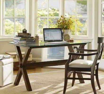 Simple Home Office Desk Decorating | Desk office boring | Pinterest