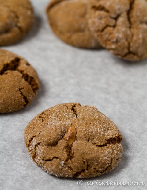 Drink & Dish: Caramel Stuffed Ginger Molasses Cookies | Recipe