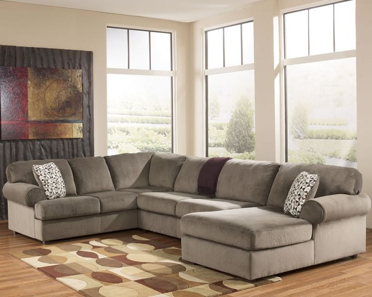 Microfiber u shaped chaise sectional for our home for Ashley microfiber chaise lounge