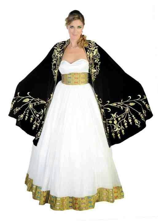 Eritrean wedding style farida habesha for Habesha dress for wedding