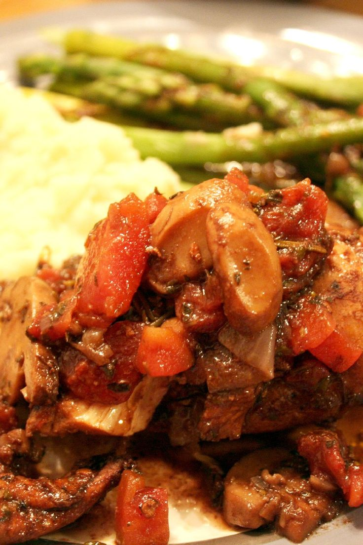 Braised Balsamic Chicken Recipe | recipe | Pinterest