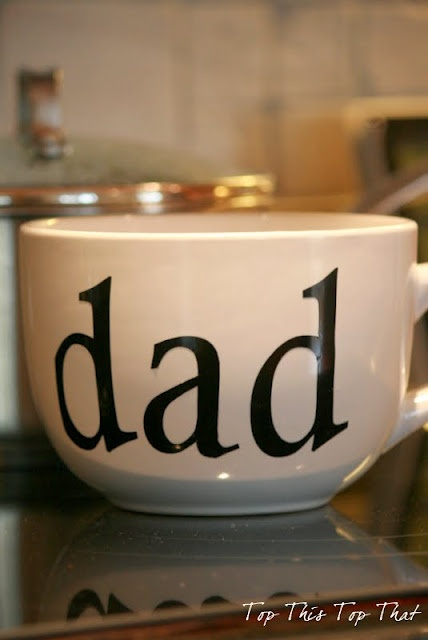 Fathers Day Gift Idea....so easy.  Fill with coffee....perfect from the kids.