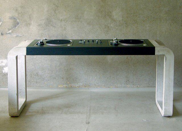 Concrete DJ Desk