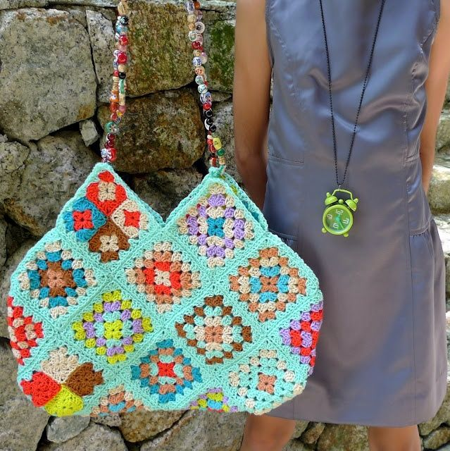 Granny Square bag love!. Sewing Pinterest