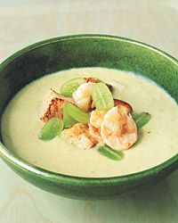 green gazpacho with shrimp
