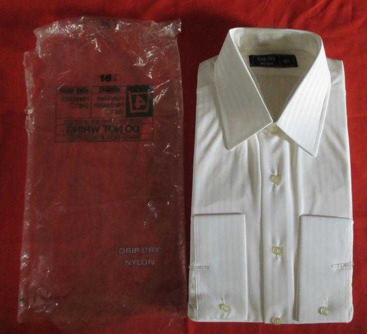 Vtg Bri Nylon Shirt 1960 39 S 1970 39 S L Xl 16 1 2