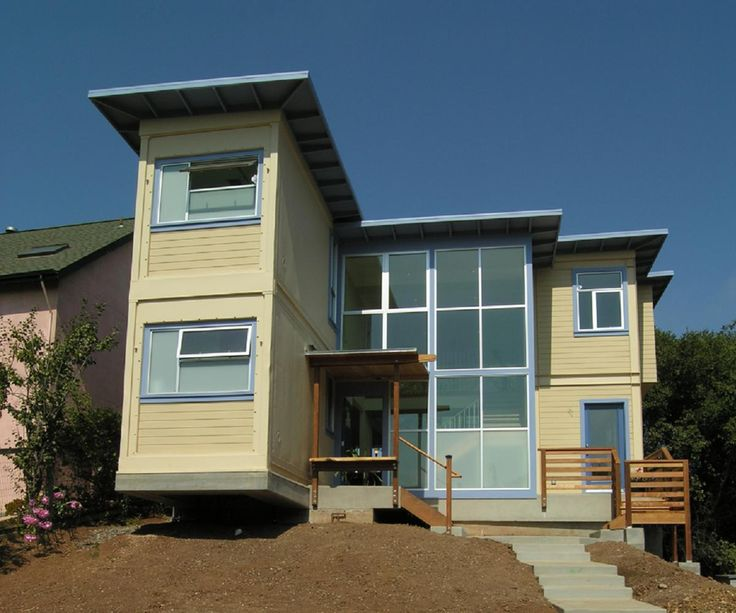 Two story container home front view shipping container homes pint - Two story shipping container homes ...