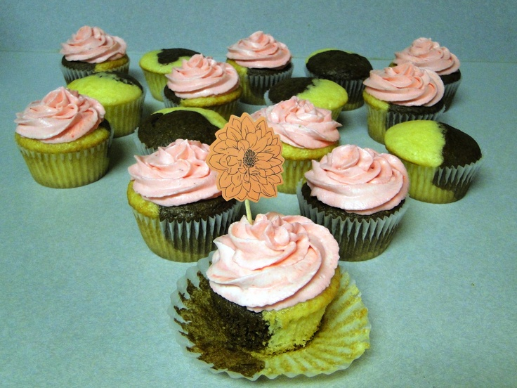 Neapolitan cupcakes | Cupcake Bee! | Pinterest