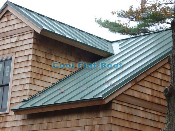 Green metal roof on cedar sided home cabins cedar and Cabins with metal roofs