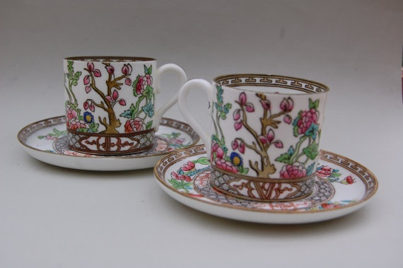 VINTAGE Pair of Coalport England AD 1750 Coffee by REDceramics, £30.00
