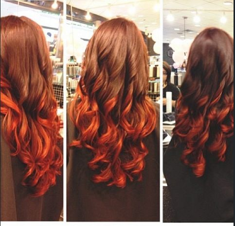 Orange brown ombre hair pictures