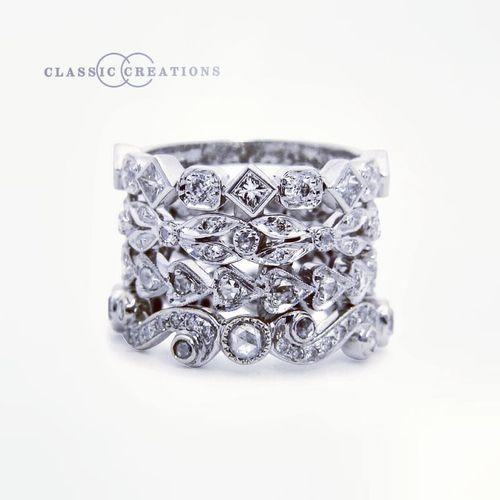 diamond stackable wedding rings i likez pinterest