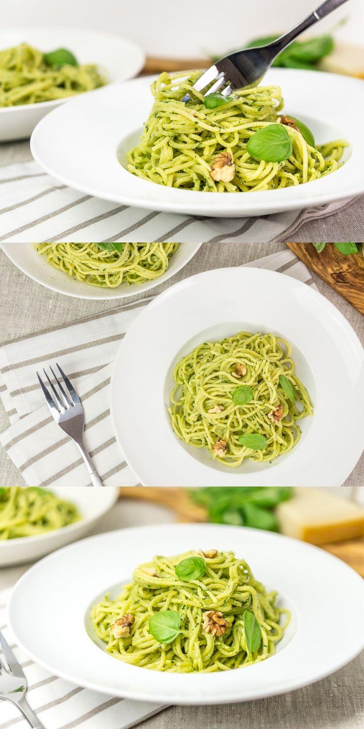 basil pesto recipe yummly spring green pasta with parsley walnut pesto ...