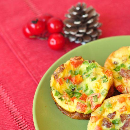 Scrambled egg, bacon, and pepper muffins | Wakey Wakey | Pinterest